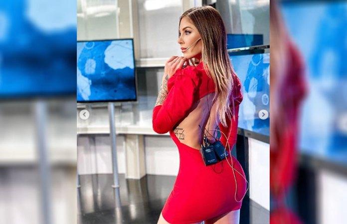 Rojo fuego y espalda descubierta: el look de Romina Malaspina que encendió la noche
