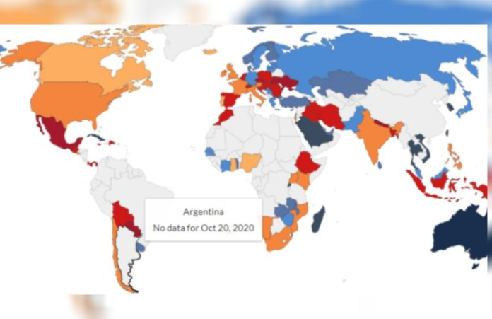 Coronavirus: Our World in Data eliminó a la Argentina de su conteo de casos