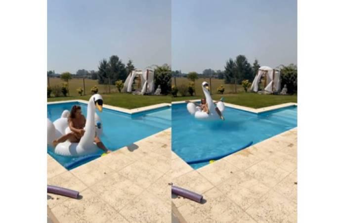 De frente y de espaldas, Adabel Guerrero mostró su bikini animal print (calce profundo)