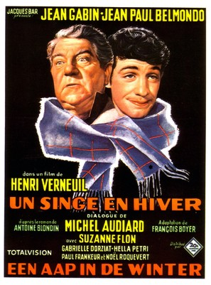 Film Un Singe En Hiver : singe, hiver, Singe, Hiver, (1962), Movie, Posters