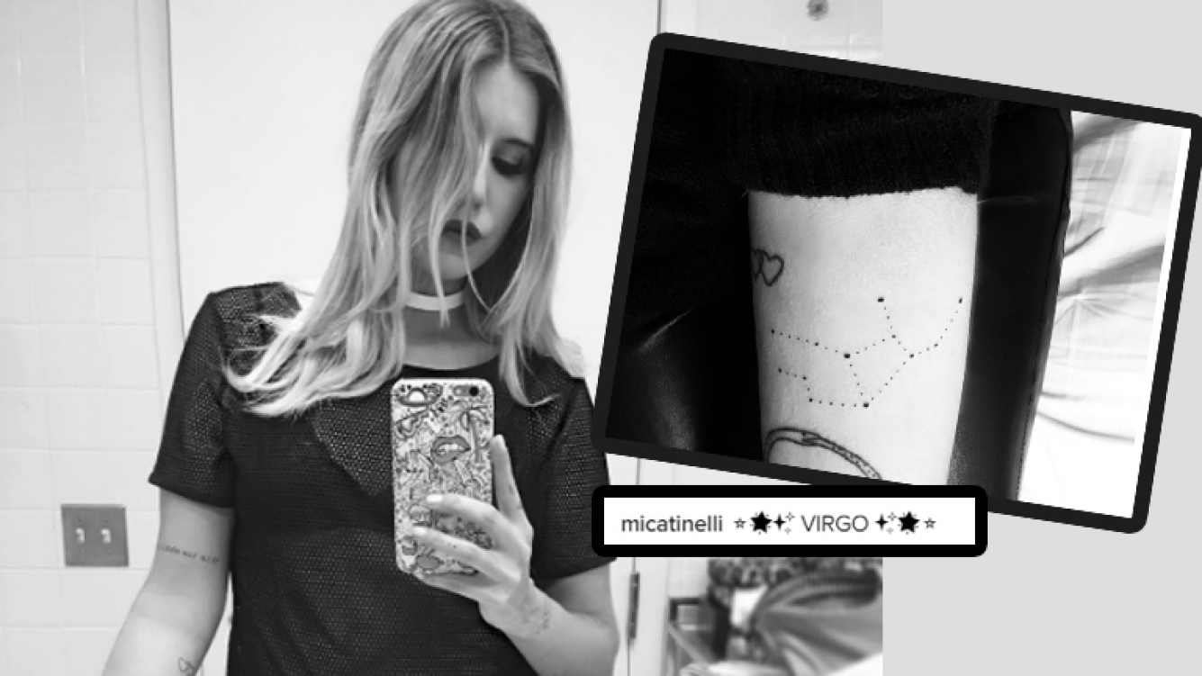Micaela Tinelli Fanática De La Astrología Se Hizo Un Tatuaje