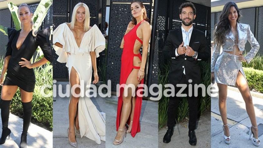 Los famosos posaron en la presentación de La Academia (fotos: Movilpress)