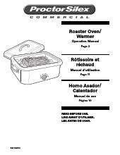 Hamilton Beach 32918 Proctor-Silex Roaster Oven/Warmer