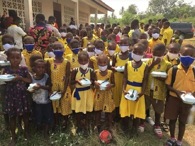 C/R: Agona East MP donates PPE, lunch to schools 3