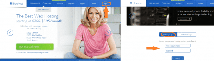 Bluehost login(1)