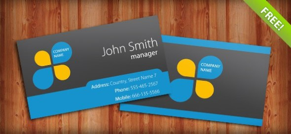 19-free-blue-business-card-template