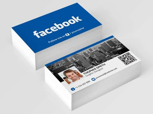 75 free business card templates that are stunning beautiful 4 facebook business card colourmoves