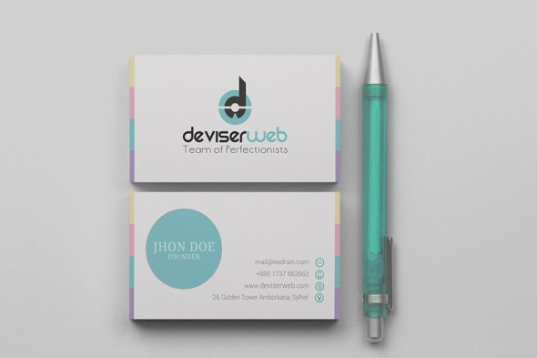 53 modern business card template