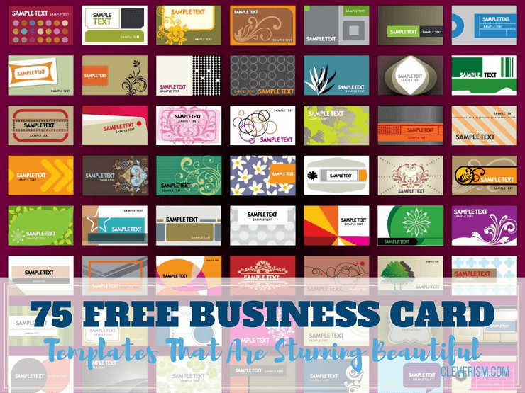 Free Sample Business Cards Templates | 75 Free Business Card Templates That Are Stunning Beautiful