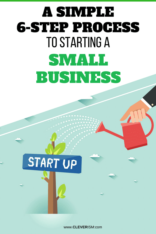 a simple 6 step process to starting a small business