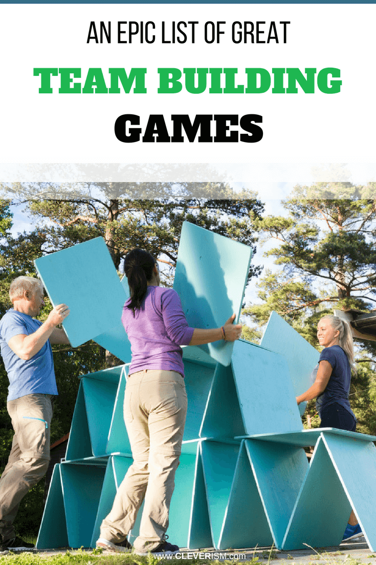 An Epic List of Great Team Building Games - #TeamBuilding #TeamBuildingGames #Cleverism