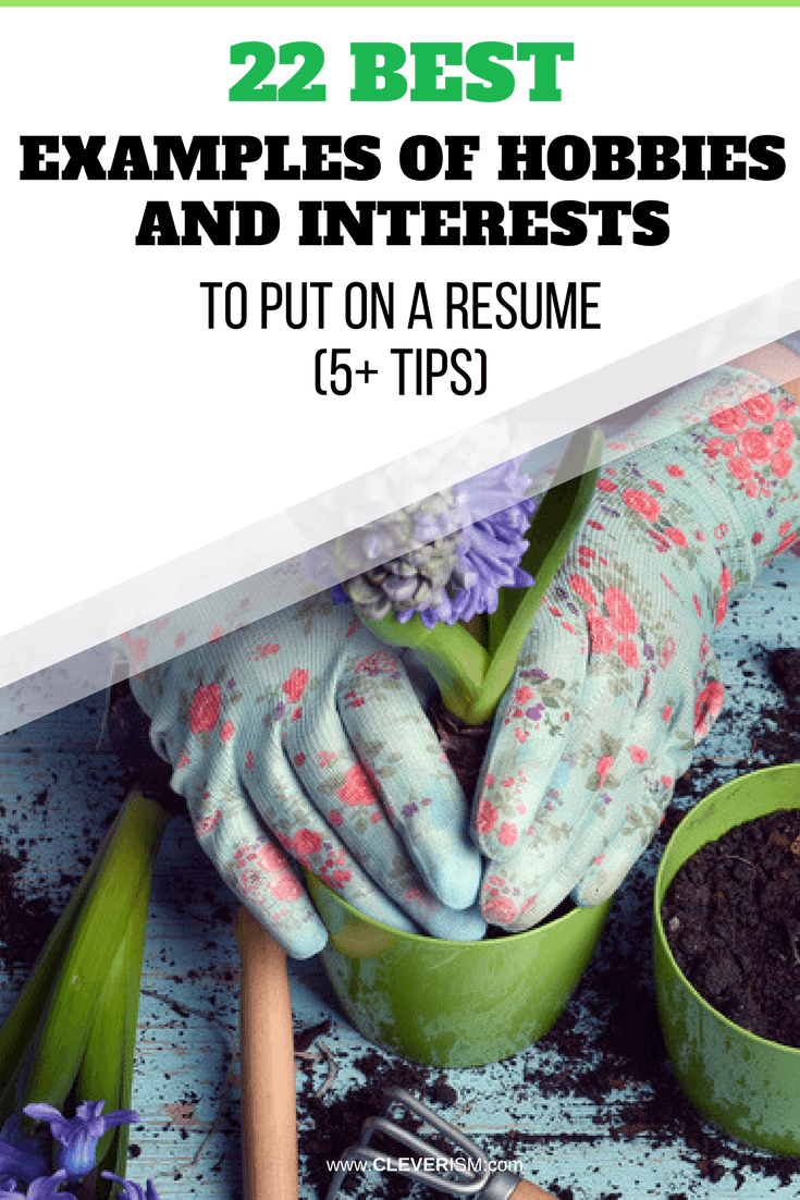 22 best examples of hobbies and interests to put on a