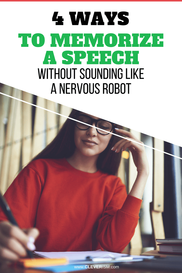 4 Ways to Memorize a Speech - Without Sounding Like a Nervous Robot - #MemorizingSpeech #MemoryTraining #Cleverism