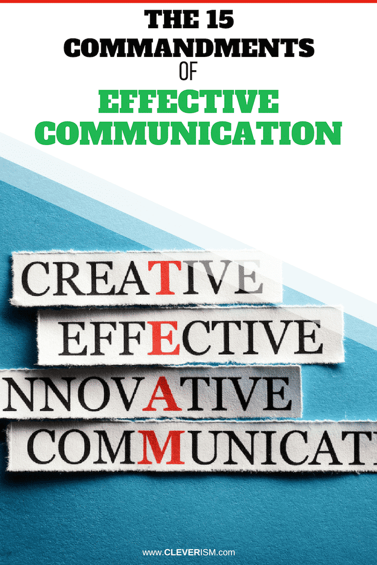 The 15 Commandments of Effective Communication - #Communication #EffectiveCommunication #Cleverism