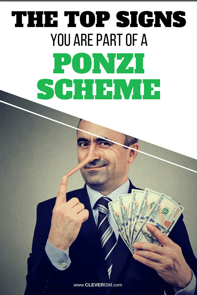 The Top Signs You Are Part of a Ponzi Scheme