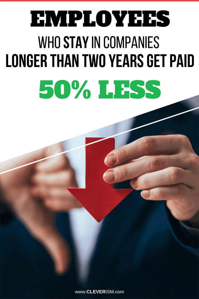 Employees Who Stay in Companies Longer Than Two Years Get Paid 50% Less