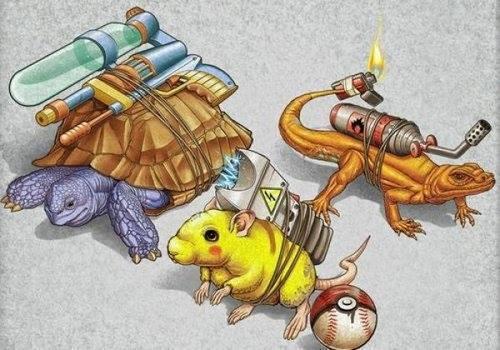 原來神奇寶貝是這樣子演化而來的!!   點我一下