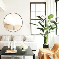 Mirror Living Room Tables Border Design 11 Ways To Style Large Round Mirrors Mydomaine