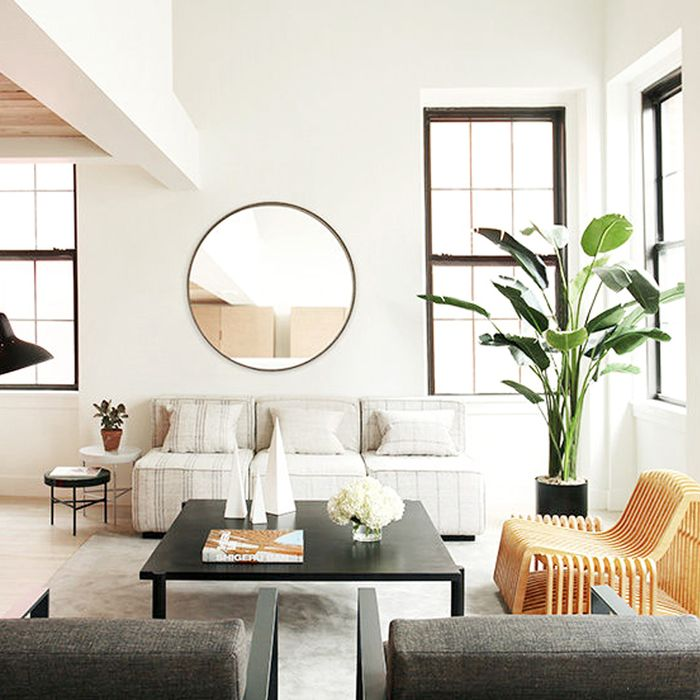 nice mirrors living room window between kitchen and 11 ways to style large round mydomaine