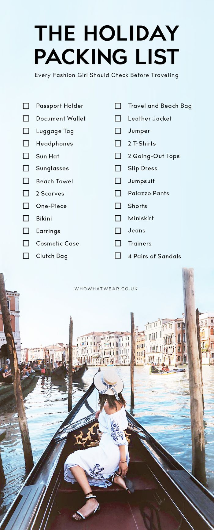 The Holiday Packing List Every Stylish Girl Should Check | Who What Wear Uk
