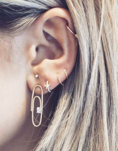 New ear piercing rules to follow in if you  re obsessed who what wear also rh whowhatwear