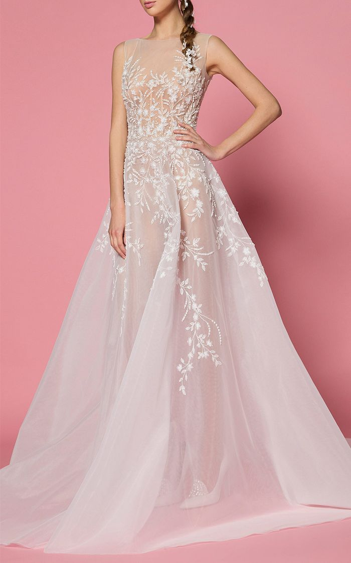 The Most Stunning SeeThrough Wedding Dresses  Who What Wear