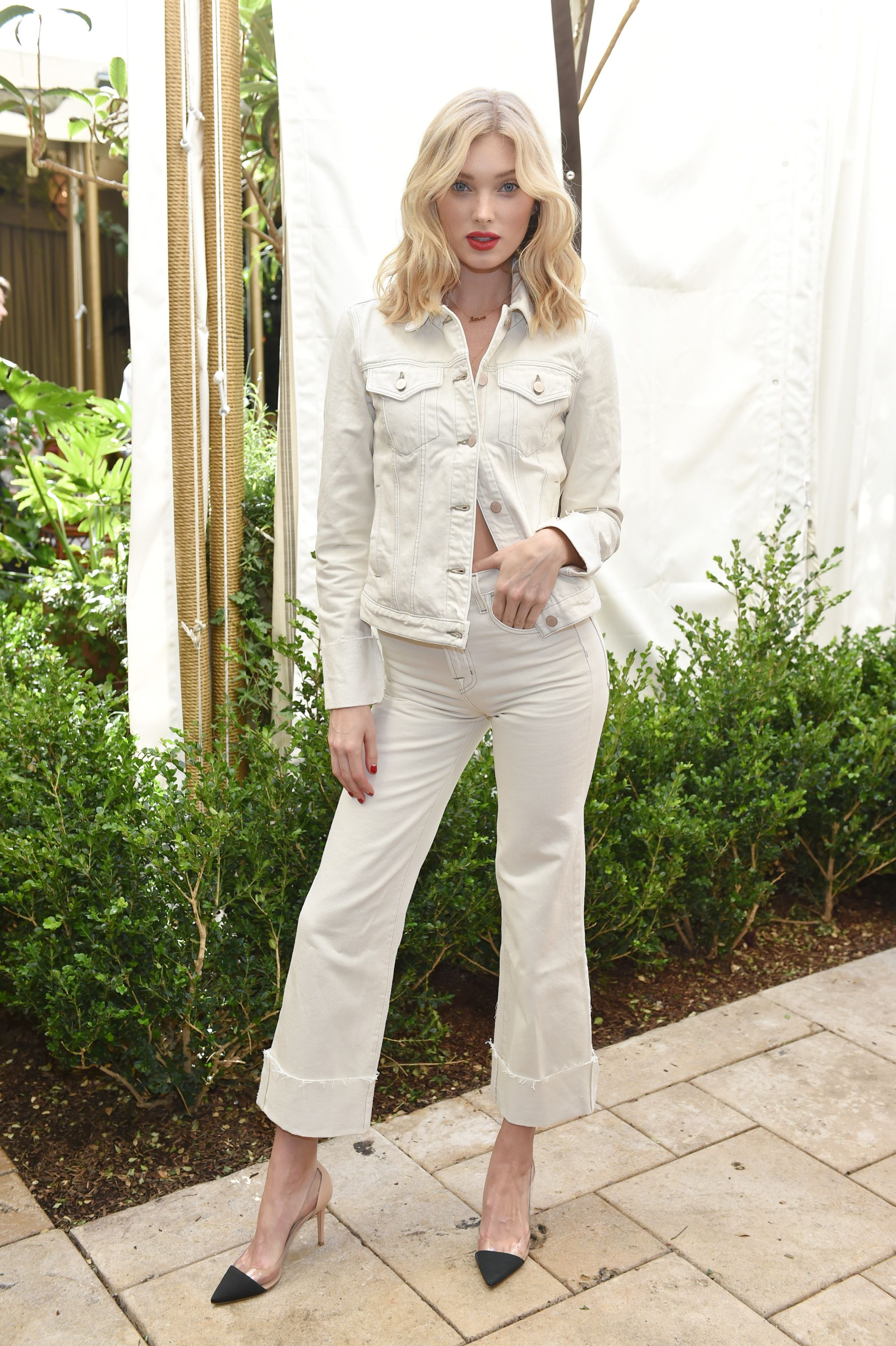 7b2448b0d81eca WHAT  J Brand spring collection launch luncheon at Chateau Marmont in Los  Angeles. WEAR  J Brand Slim Jacket ( 278) and Joan High-Rise Wide Leg  Cropped ...
