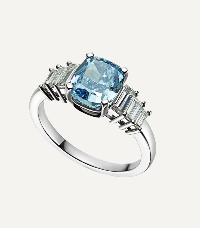 Meghan Markle Wearing Princess Dianas Aquamarine Ring  Who What Wear UK