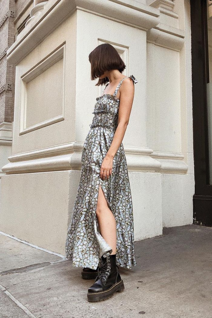 8 Perfect Summer Dresses to Wear With Boots Now  Who What Wear
