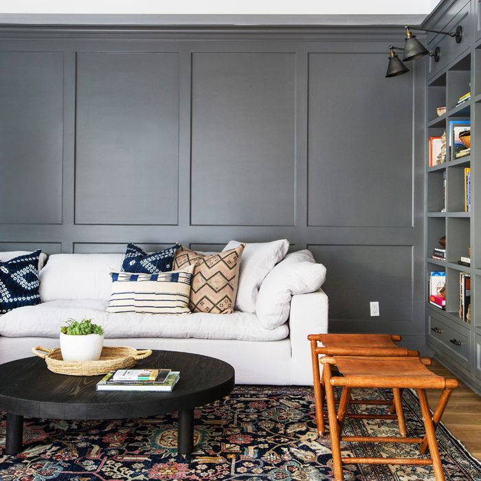 best neutral paint colors for small living room design black leather sofa these are the 11 dark rooms mydomaine forget white walls