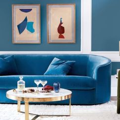 Navy Blue Velvet Sofa Genuine Leather Sofas Found The Best 19 Our Editors Love Mydomaine