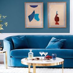 Navy Blue Velvet Sofa Pulsar Dark Brown Leather Sectional Set Found The Best 19 Sofas Our Editors Love Mydomaine