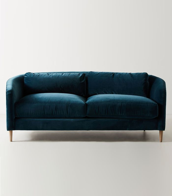 navy blue velvet sofa cushions for beds found the best 19 sofas our editors love mydomaine pinterest