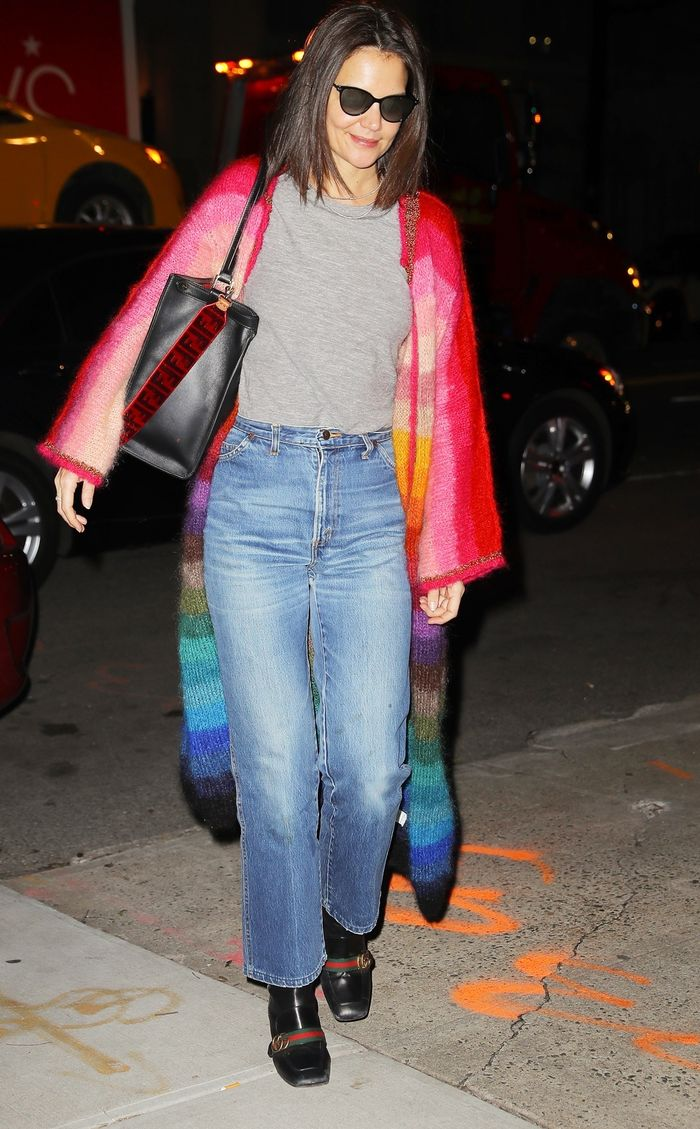 Katie Holmes Wore Jeans and Gucci Shoes on Her Birthday  Who What Wear