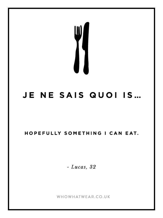 Or Je Ne Suis Pas : Really, Means, Comes, Fashion