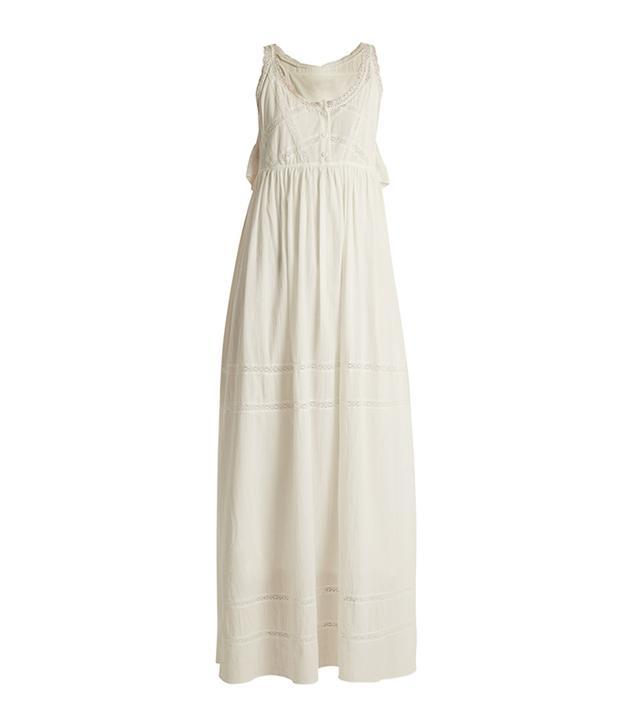 The Lace cotton maxi dress