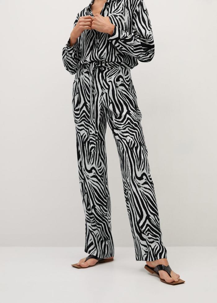 Mango Zebra Print Pants