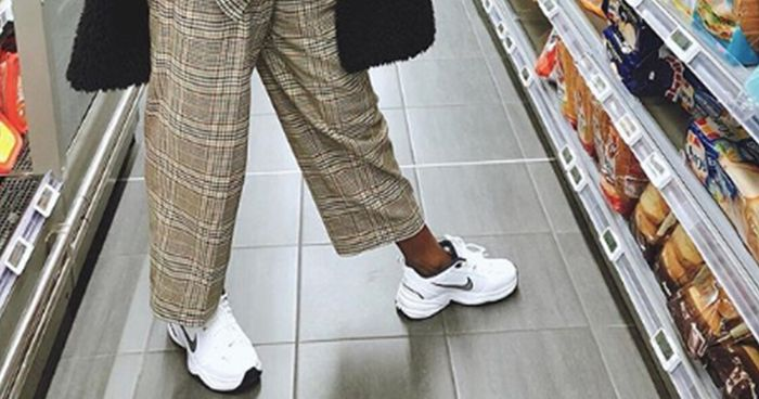 Meet Nike Air Monarch Sneakers the OG Dad Shoes  Who What Wear UK