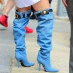 Jennifer Lopez Denim boots cause quite a stir on twitter
