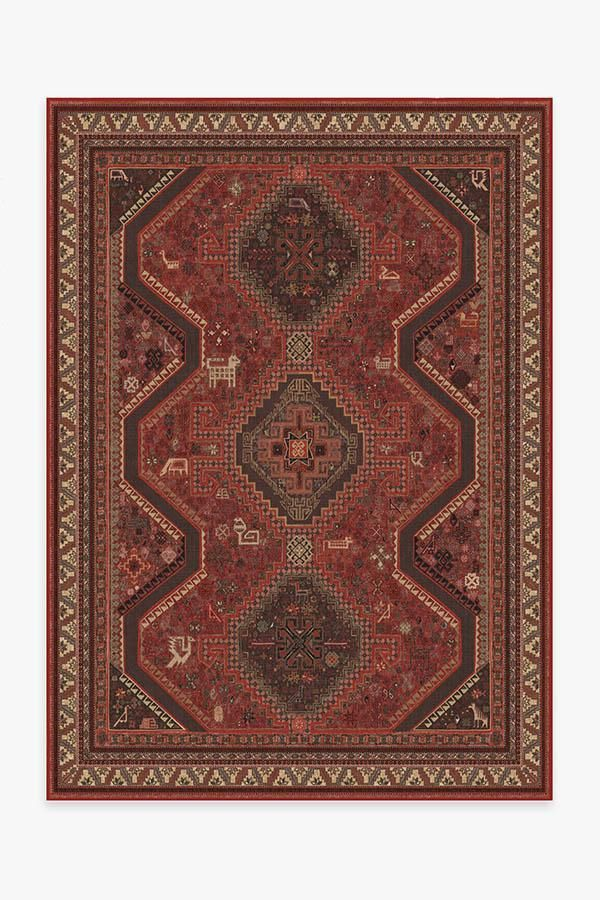 Ruggable Zareen Scarlet Red Rug