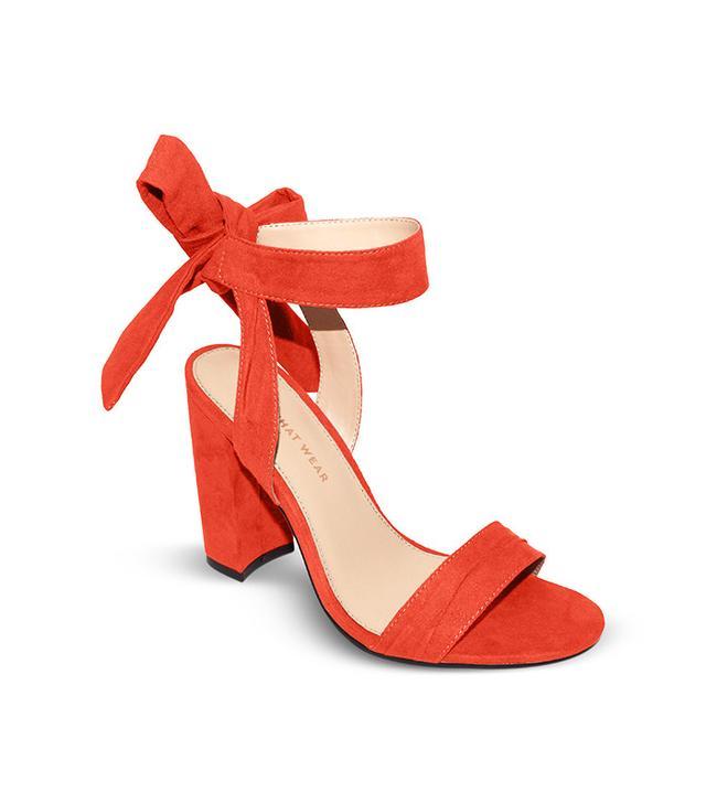 Who What Wear Michaela Block Heel Quarter Strap Sandals