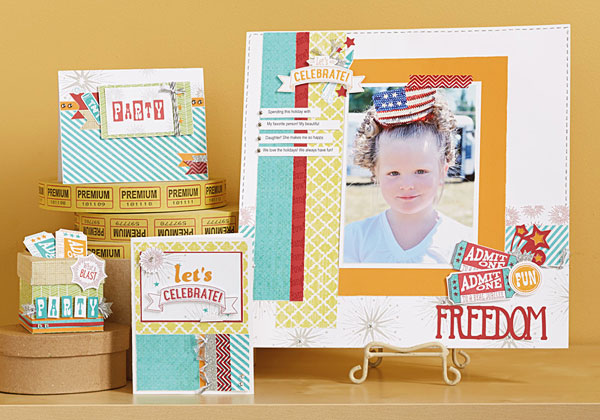 June 2014 Stamp of the Month: Kaboom (S1406); 2014 Spring Summer Idea Book, p. 15