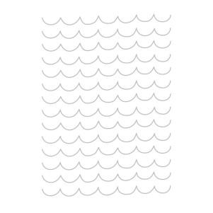 Playful scallops embossing folder