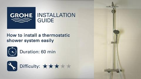 install a thermostatic shower system