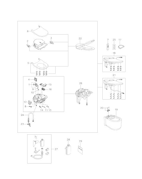 GROHE Sensia Arena Shower toilet complete system for