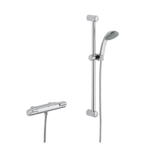 Grohtherm 1000 Thermostatic shower mixer 1/2″   GROHE 官方網站