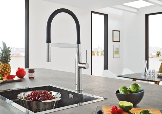 grohe kitchen faucet hose track lighting for essence | faucets
