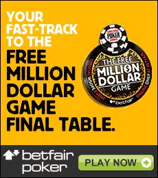 Betfair Poker Million Dollaw WSOP Promotion