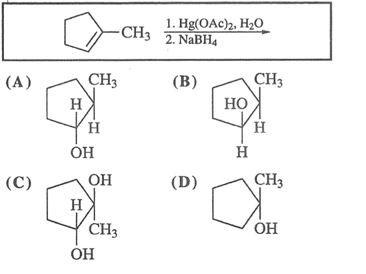 What is the major product from this reaction?