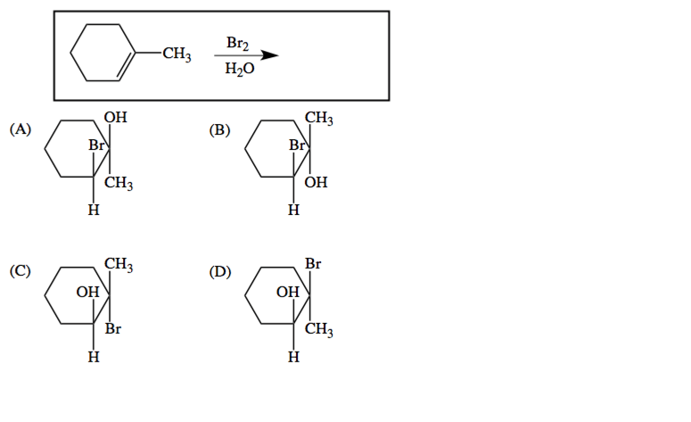 Which is the expected product of the reaction shown?